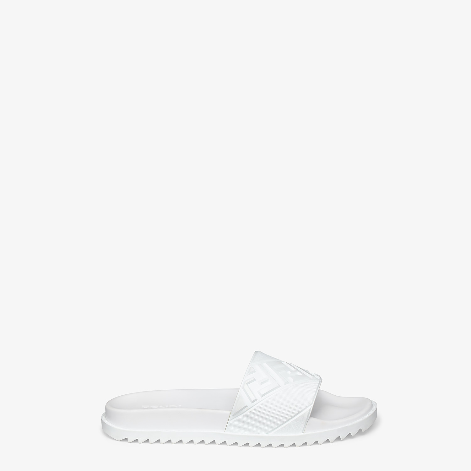 FENDI SLIDES - White rubber footbed - view 1 detail