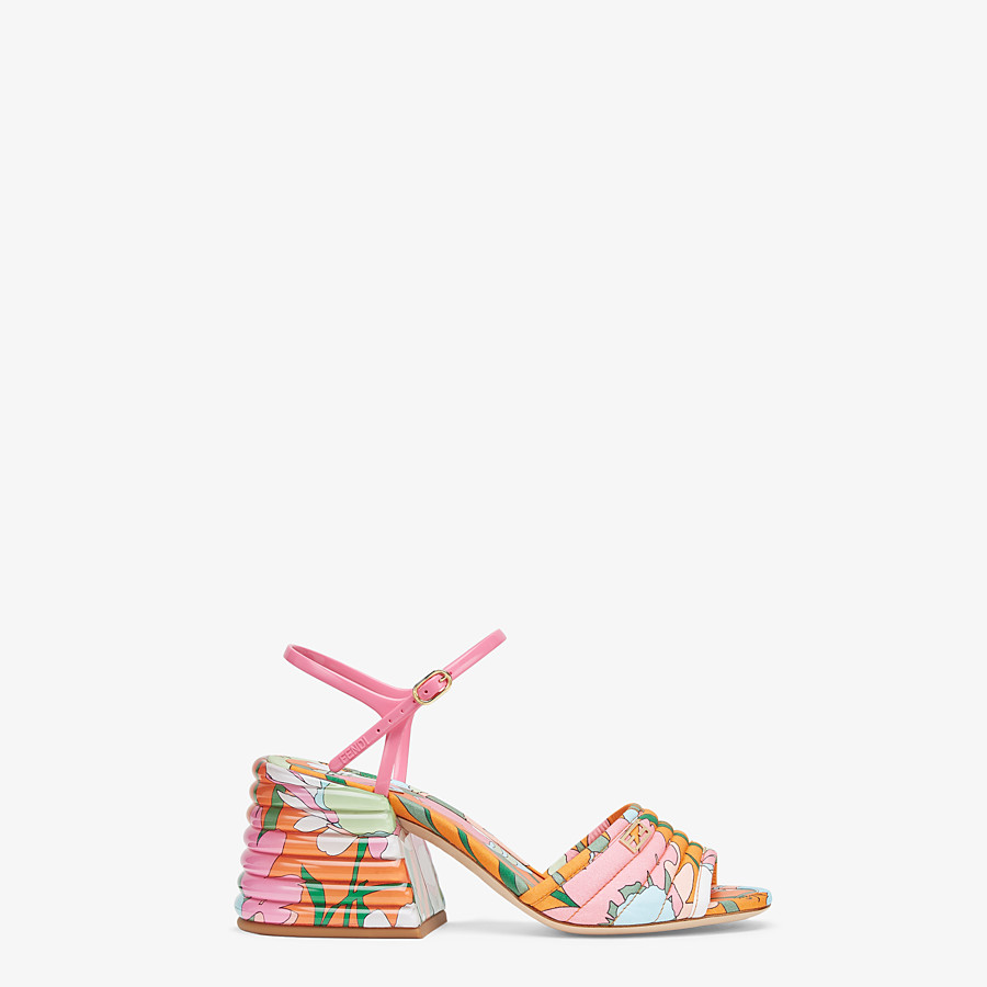 FENDI SANDALS - Multicolor cotton Promenades - view 1 detail