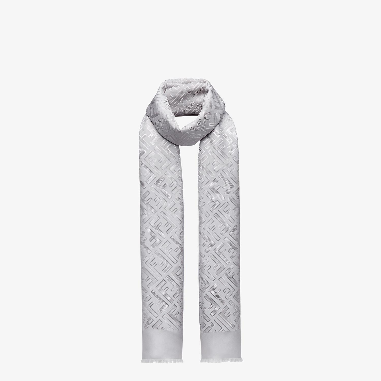 FENDI SIGNATURE STOLE - Grey silk stole - view 2 detail