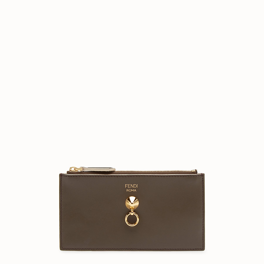 FENDI CARD POUCH - Flat three-tone calfskin pouch - view 1 detail