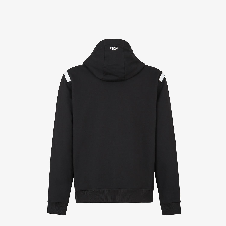 FENDI SWEATSHIRT - Black jersey sweatshirt - view 2 detail