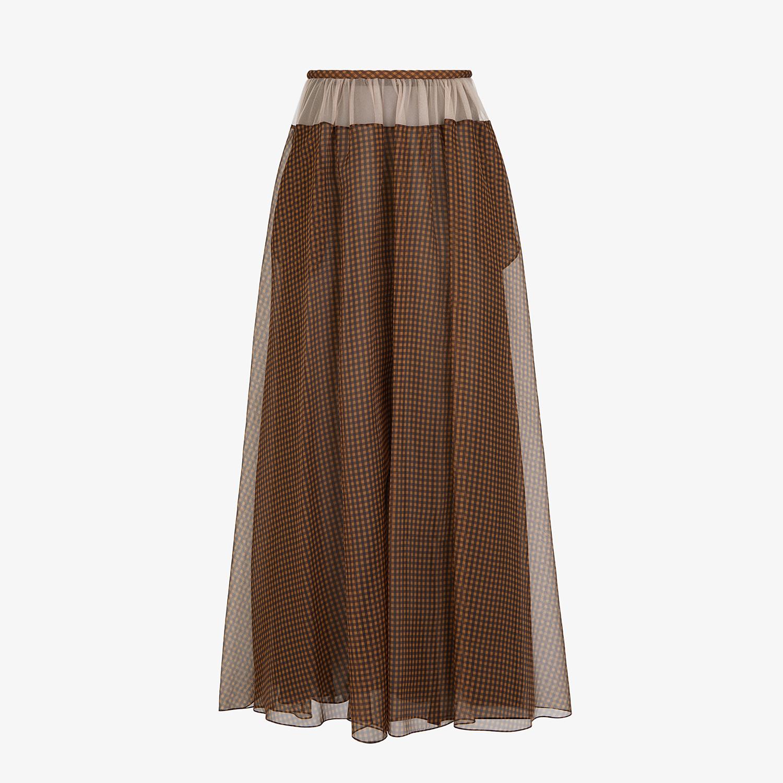 FENDI SKIRT - Check organza skirt - view 1 detail