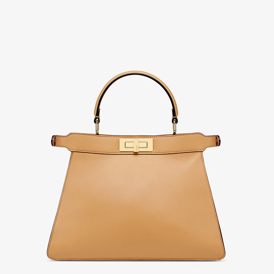 FENDI PEEKABOO ISEEU MEDIUM - Beige leather bag - view 6 detail