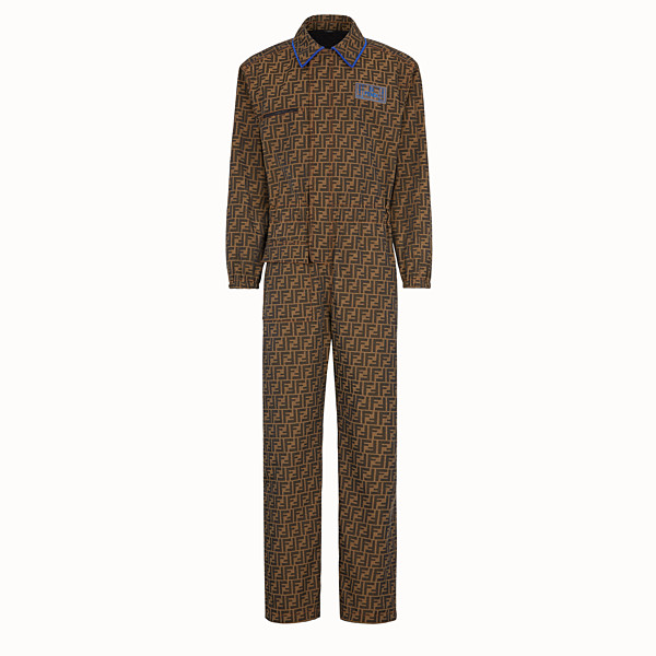 FENDI JUMPSUIT - Brown fabric jumpsuit - view 1 small thumbnail