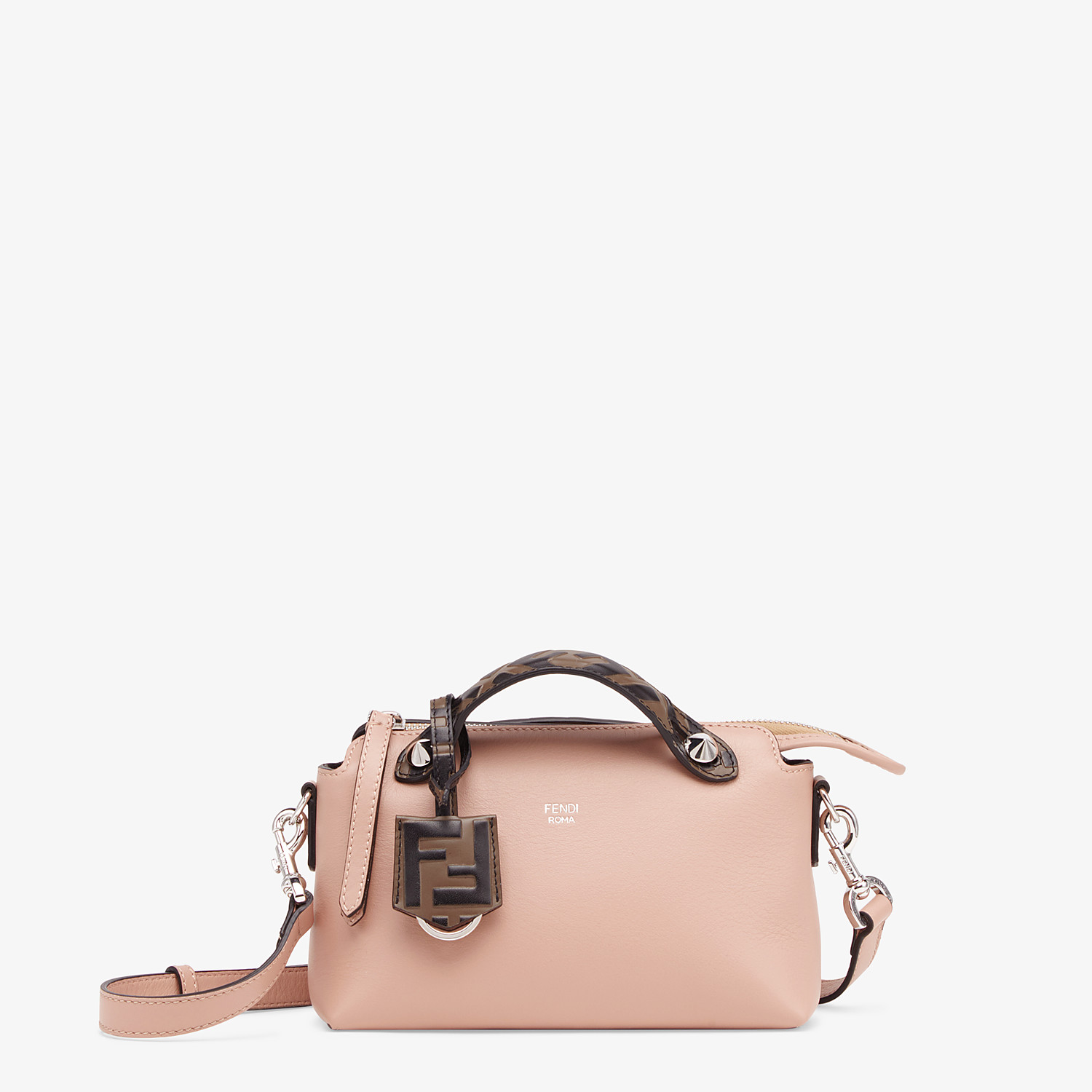 FENDI BY THE WAY MINI - Pink leather small Boston bag - view 1 detail