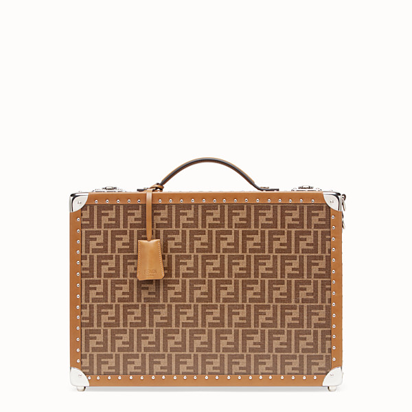 FENDI TRAVEL BAG - Brown fabric suitcase - view 1 small thumbnail