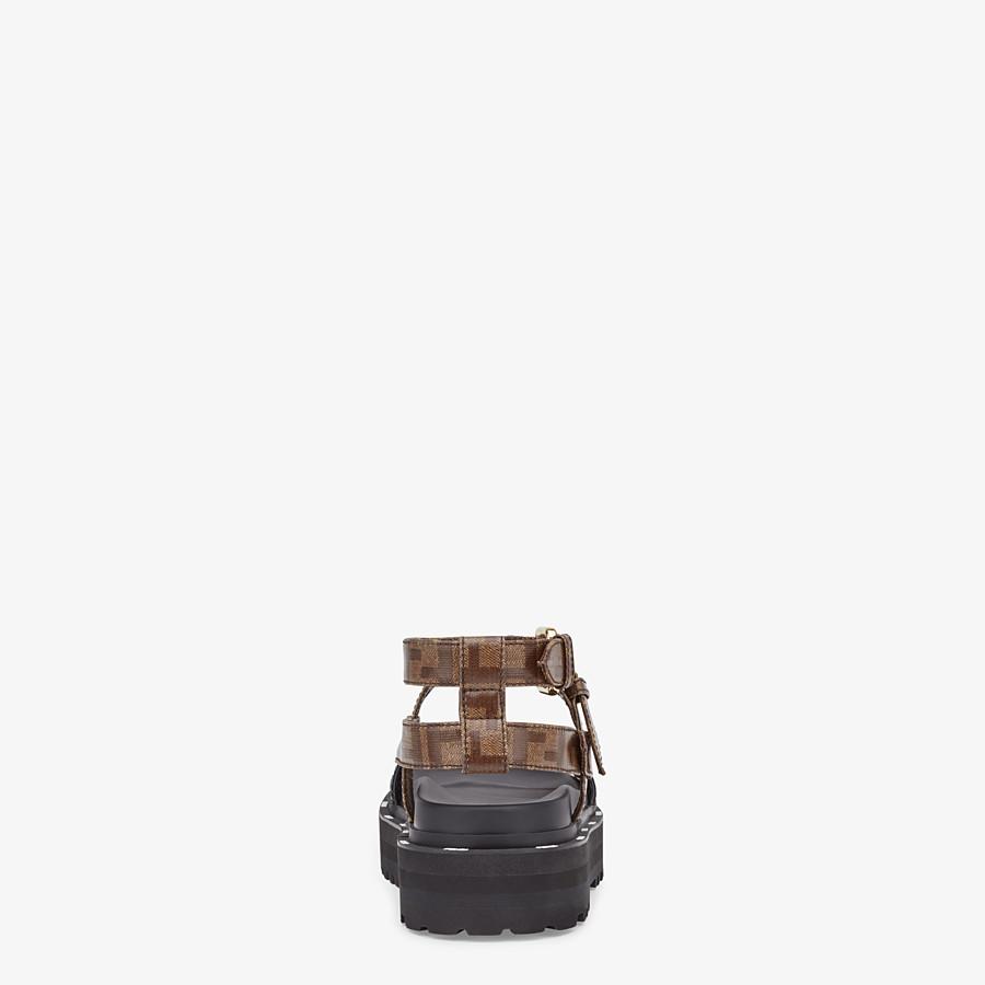 FENDI SANDALEN - Sandale aus Glossy Neopren in Schwarz - view 3 detail