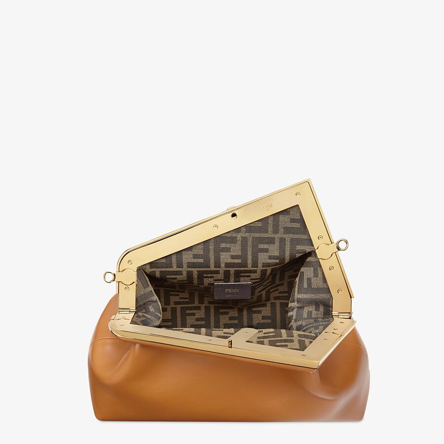 FENDI FENDI FIRST MEDIUM - Brown leather bag - view 5 detail