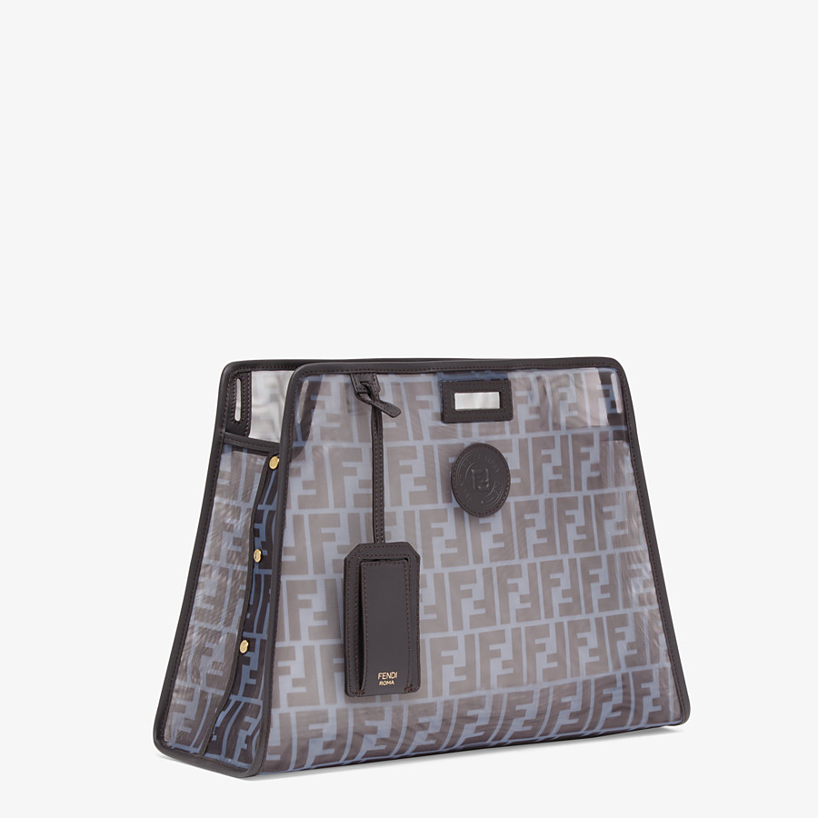 FENDI MEDIUM PEEKABOO DEFENDER - Light blue mesh Peekaboo cover - view 2 detail