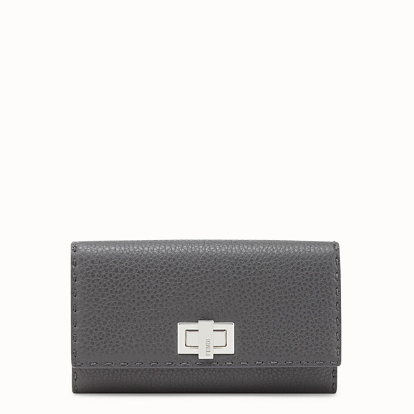 FENDI CONTINENTAL - Wallet in gray Roman leather - view 1 small thumbnail