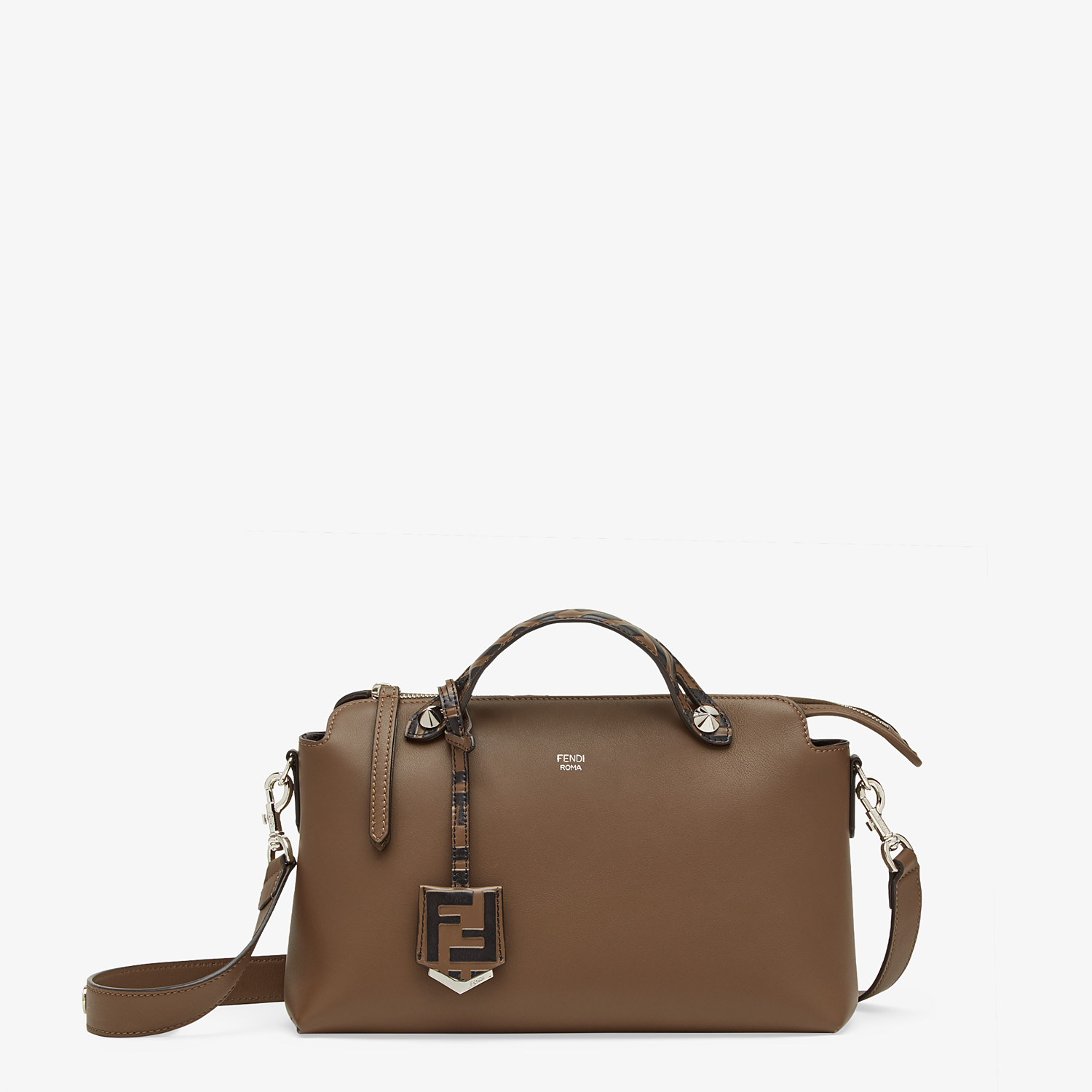 FENDI BY THE WAY MEDIUM - Brown leather Boston bag - view 1 detail