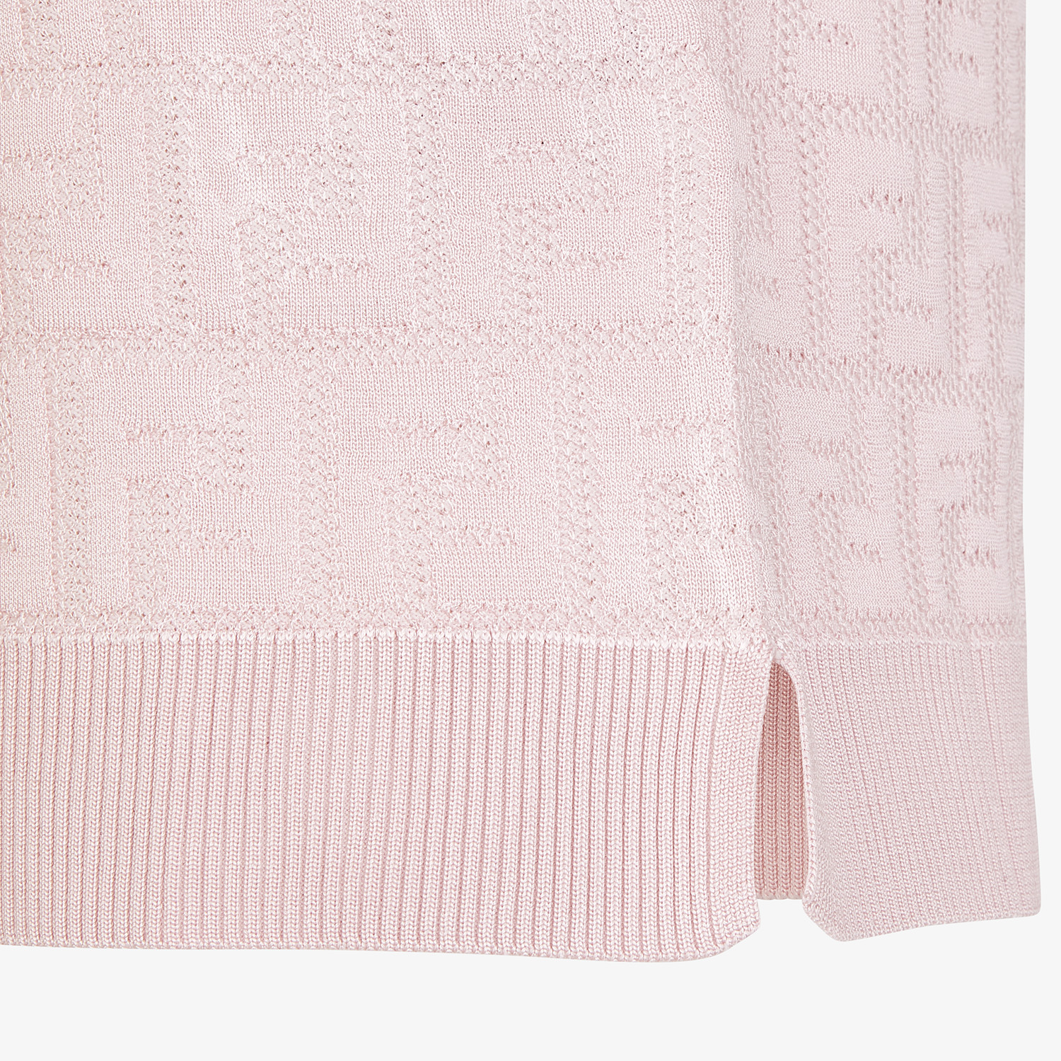 FENDI JUMPER - Pink cotton and viscose jumper - view 3 detail
