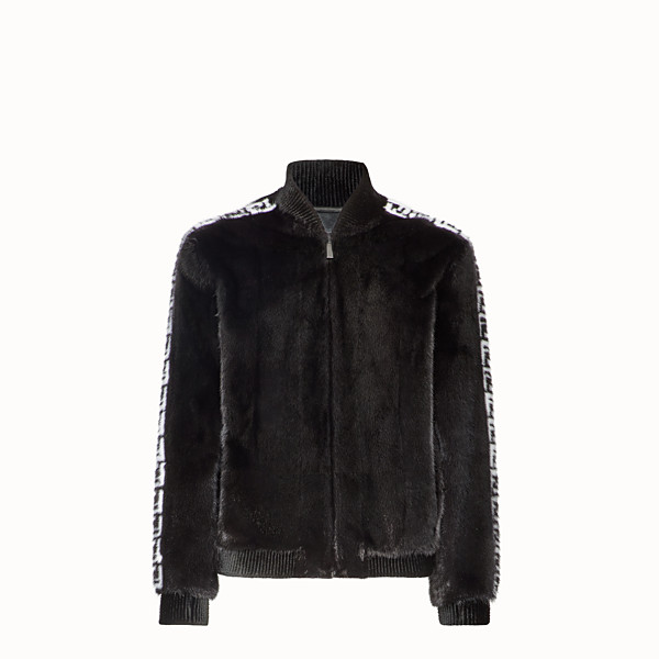 FENDI JACKET - Black mink bomber - view 1 small thumbnail