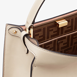 FENDI PEEKABOO X-LITE MEDIUM - Beige leather bag - view 7 thumbnail