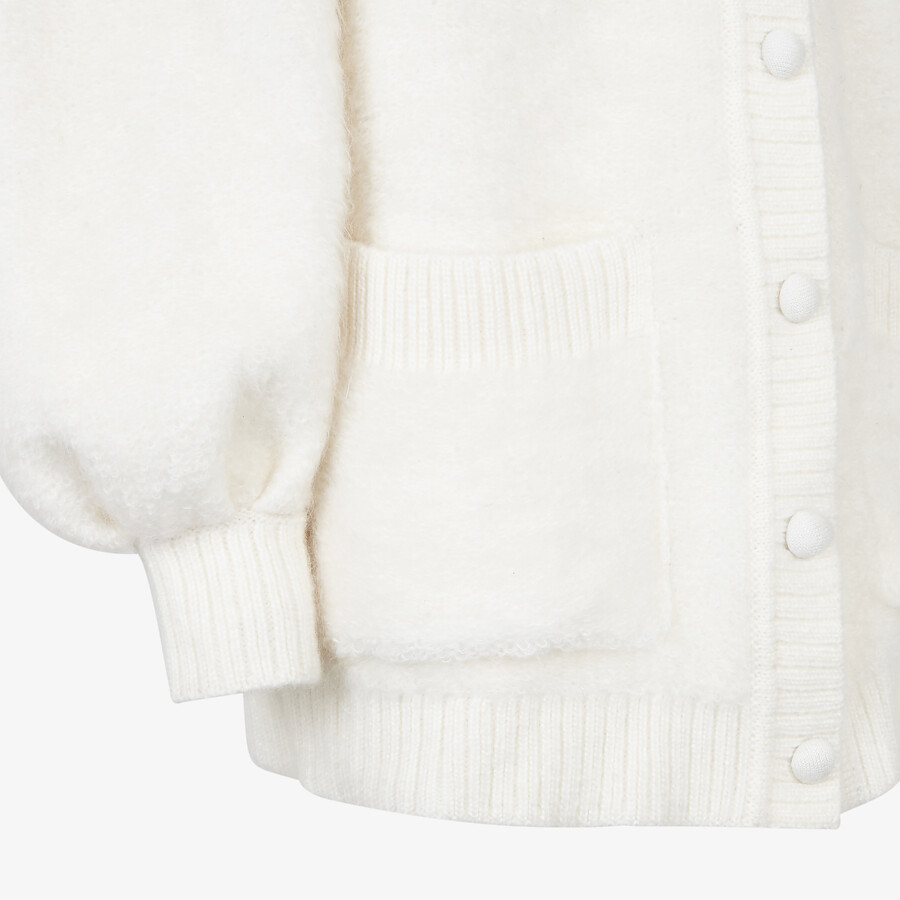 FENDI CARDIGAN - White mohair cardigan - view 3 detail