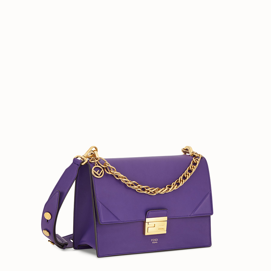 FENDI KAN U - Purple leather bag - view 2 detail