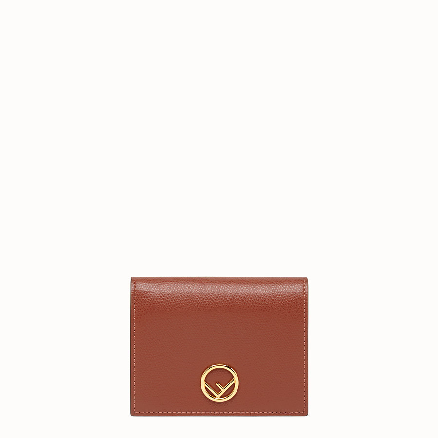 FENDI BIFOLD - Brown leather compact wallet - view 1 detail