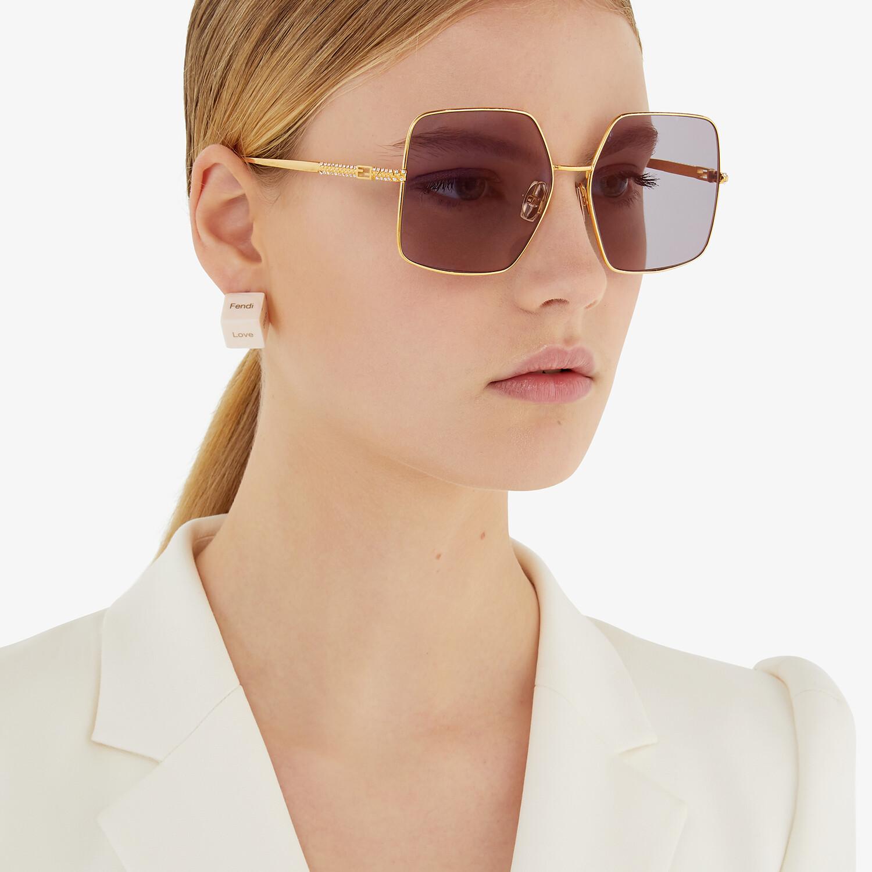 FENDI BAGUETTE - Gold-colored sunglasses - view 4 detail
