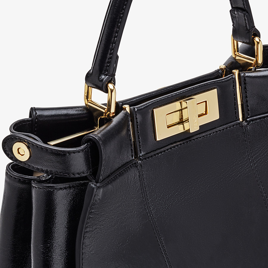 FENDI PEEKABOO ICONIC MEDIUM - Black leather bag - view 7 detail