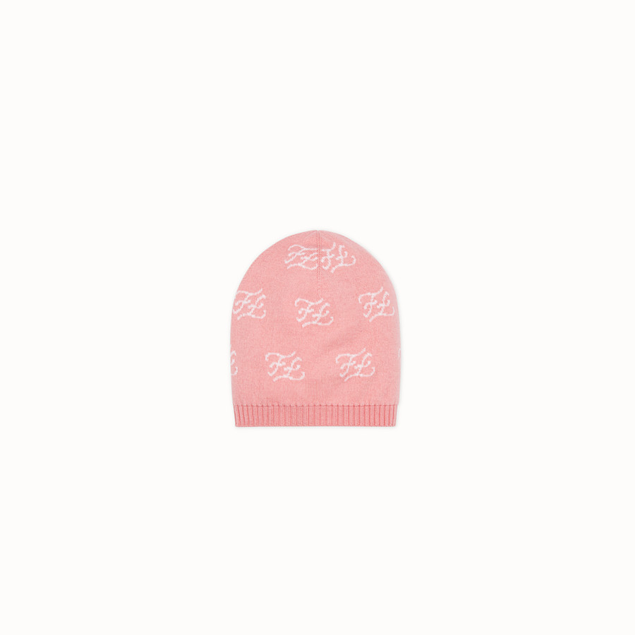 FENDI KNITTED BASEBALL CAP - Knitted baseball cap with inlay - view 1 detail