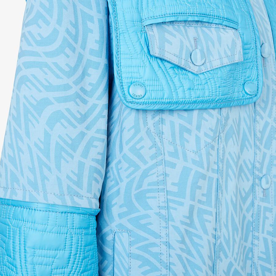 FENDI JACKET - Light blue denim jacket - view 3 detail