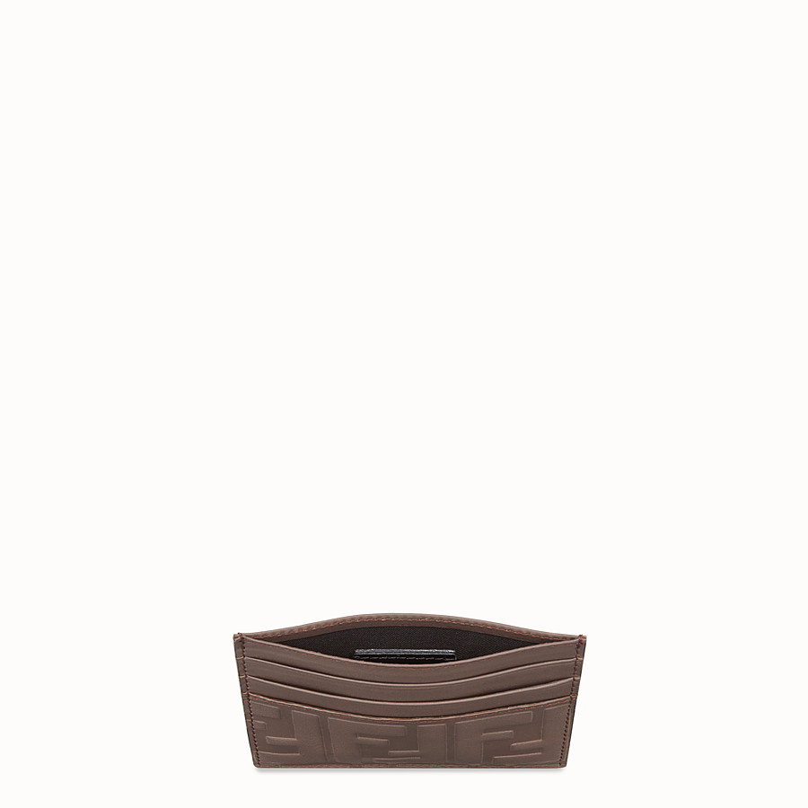 FENDI 카드 홀더 - 브라운 컬러의 가죽 카드 홀더 - view 3 detail
