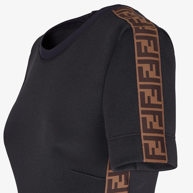 FENDI DRESS - Black piqué dress - view 3 detail