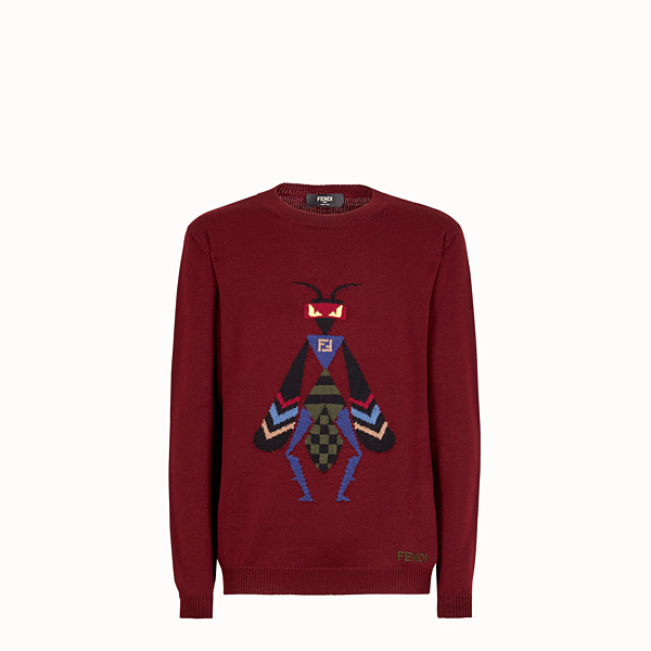 FENDI JUMPER - Burgundy wool jumper - view 1 small thumbnail