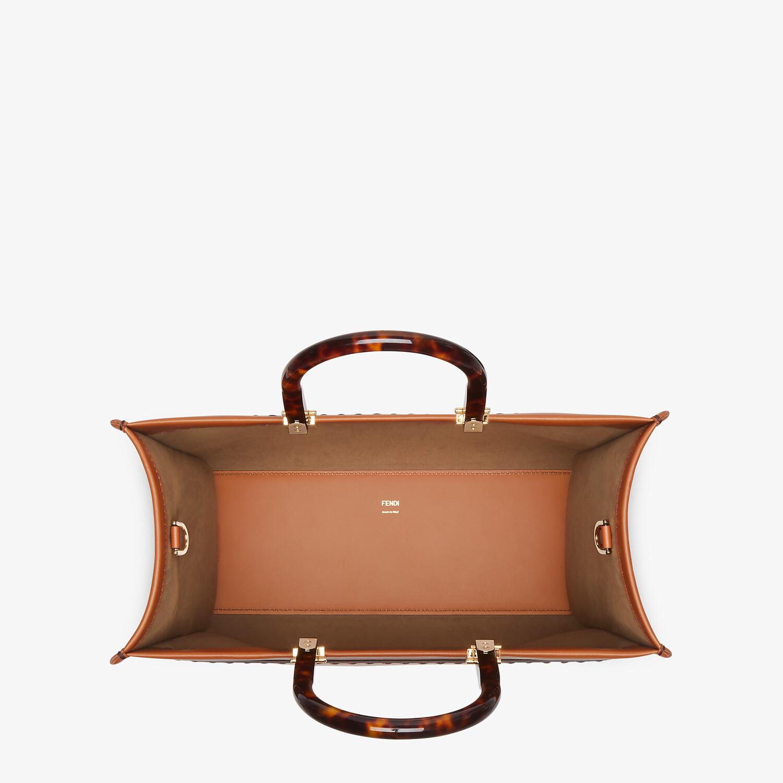 FENDI FENDI SUNSHINE MEDIUM - Brown leather shopper - view 5 detail