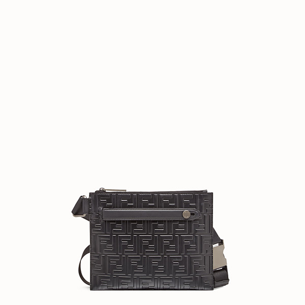 FENDI MESSENGER - Black leather bag - view 1 small thumbnail