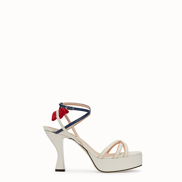 FENDI SANDALS - White leather sandals - view 1 small thumbnail