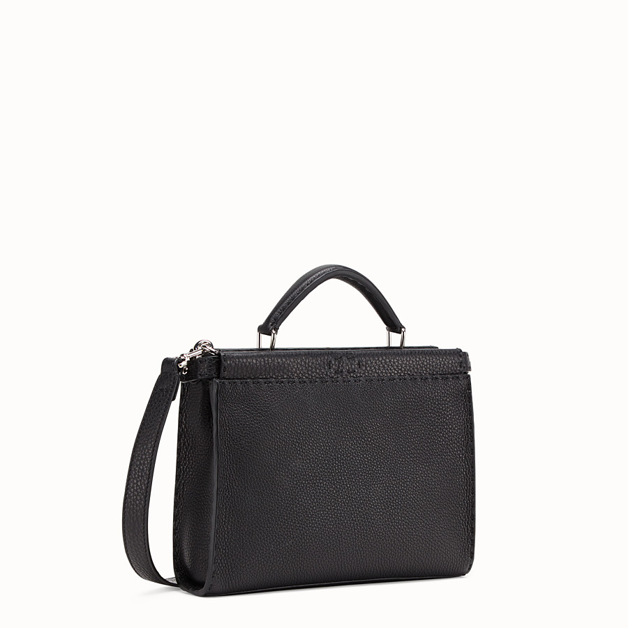 FENDI MINI PEEKABOO FIT - Black leather bag - view 2 detail