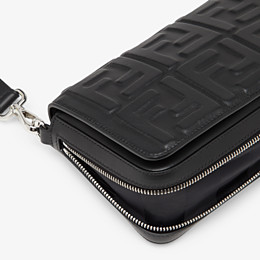 FENDI FLAP BAG - Black nappa leather bag - view 6 thumbnail