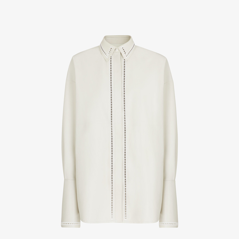 FENDI SHIRT - White nappa leather shirt - view 1 detail