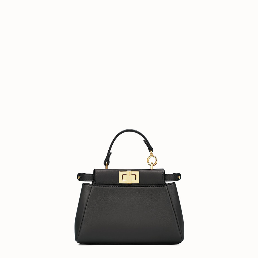 FENDI MICRO PEEKABOO - micro bag in black leather - view 1 detail