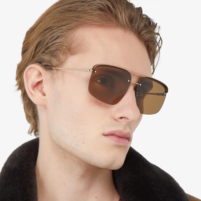 FENDI FENDI PACK - Brown sunglasses - view 4 detail