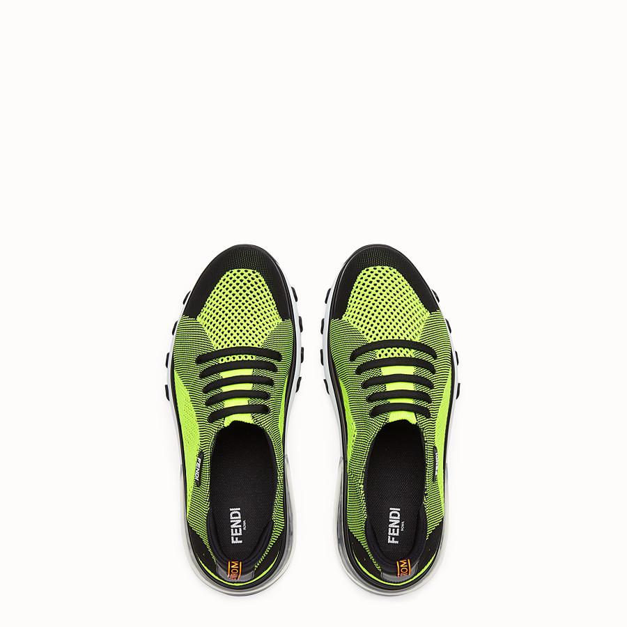 FENDI SNEAKER - Niedriger Sneaker aus Strick Mehrfarbig - view 4 detail