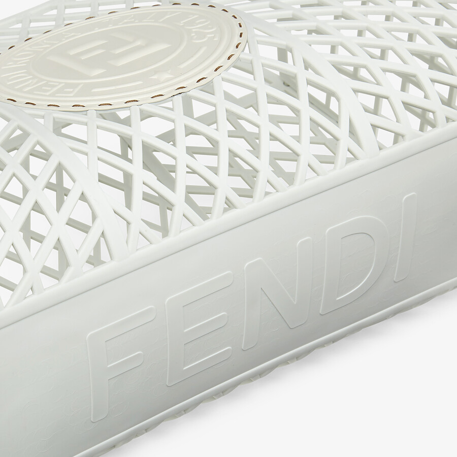 FENDI FENDI BASKET MEDIUM - White recycled plastic mini-bag - view 6 detail
