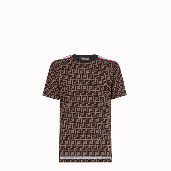 FENDI T-SHIRT - T-shirt unisexe en jersey multicolore - view 1 small thumbnail