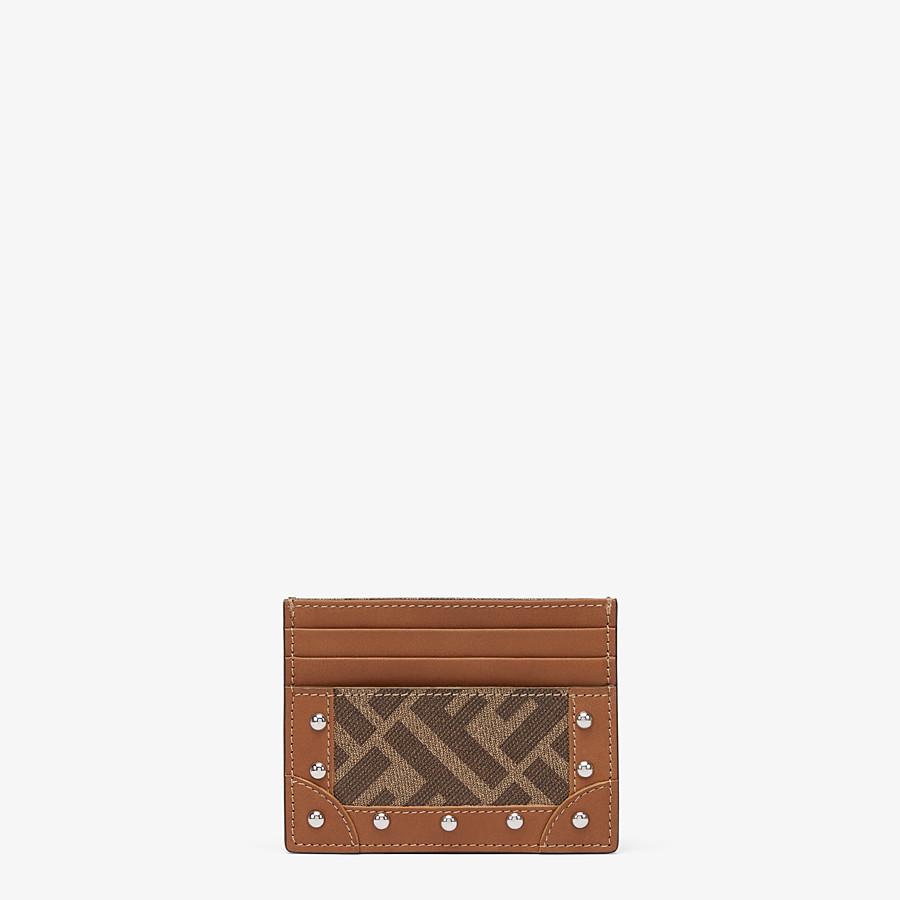 FENDI 卡片套 - 棕色布料卡片套 - view 1 detail