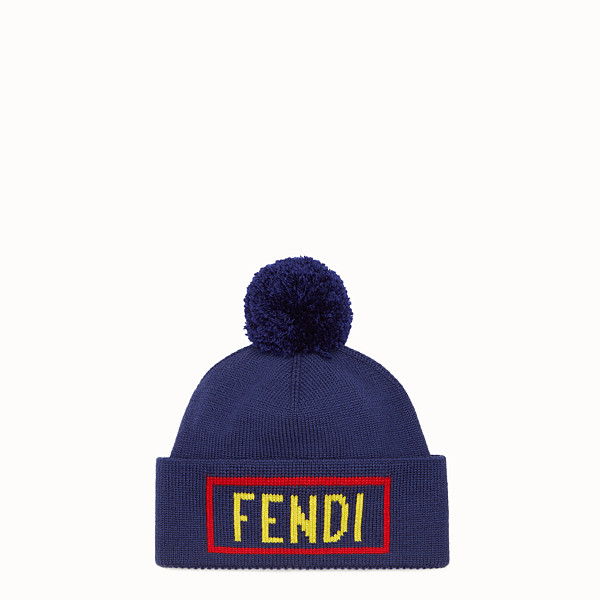 FENDI HAT - Blue wool hat - view 1 small thumbnail