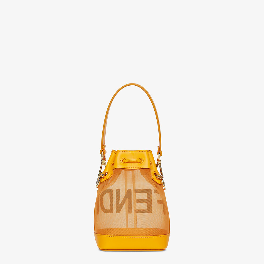 FENDI MON TRESOR - Orange leather and mesh mini-bag - view 4 detail