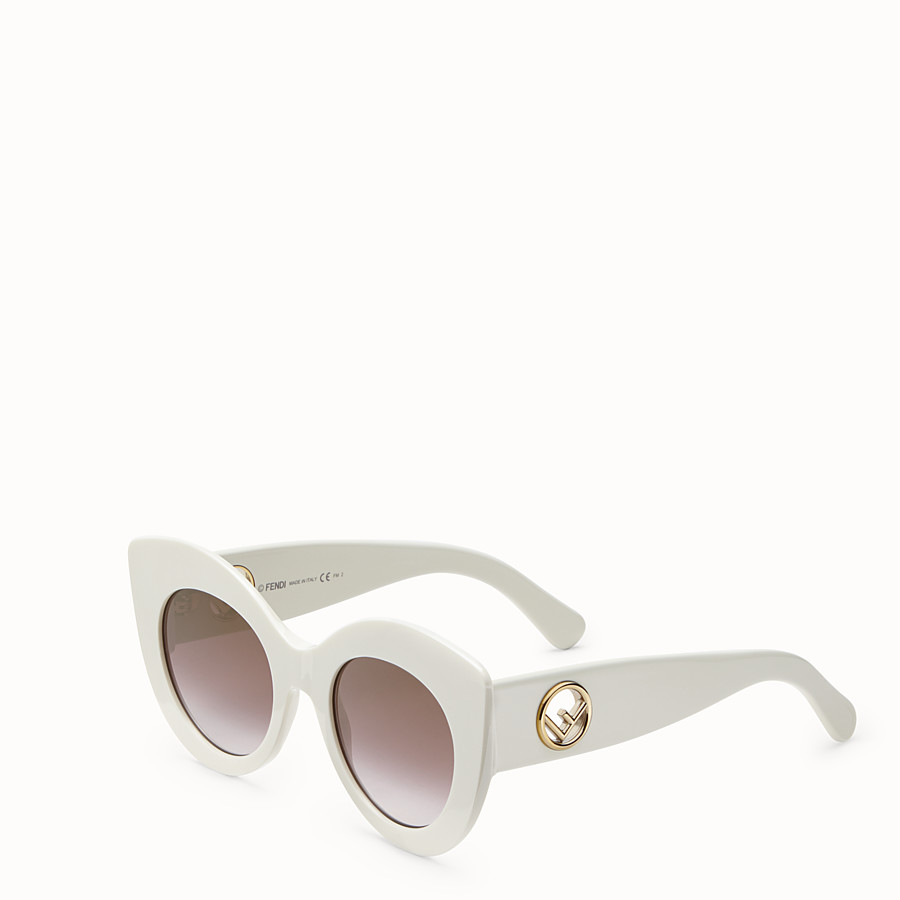 FENDI F IS FENDI - White and brown sunglasses - view 2 detail