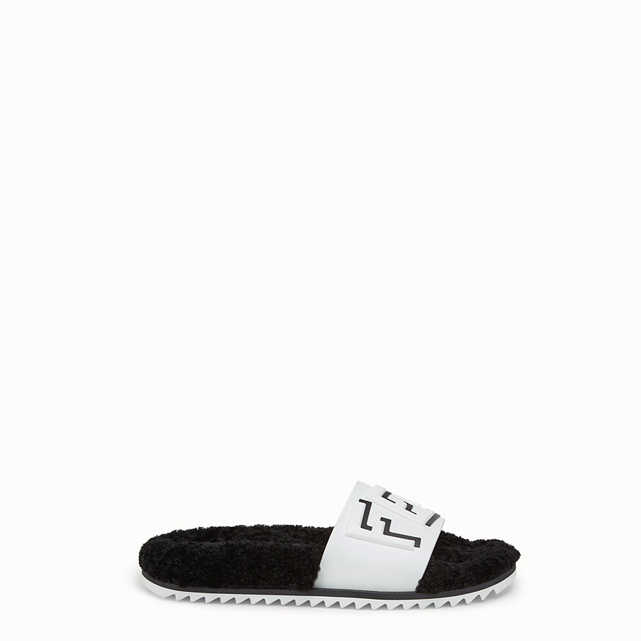 FENDI SLIDES - White TPU Fussbet sandals - view 1 detail