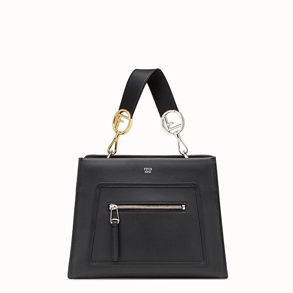 FENDI RUNAWAY SMALL - Black leather bag - view 1 small thumbnail