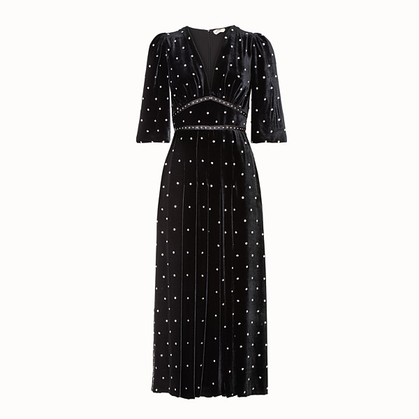 FENDI DRESS - Black velvet dress - view 1 small thumbnail