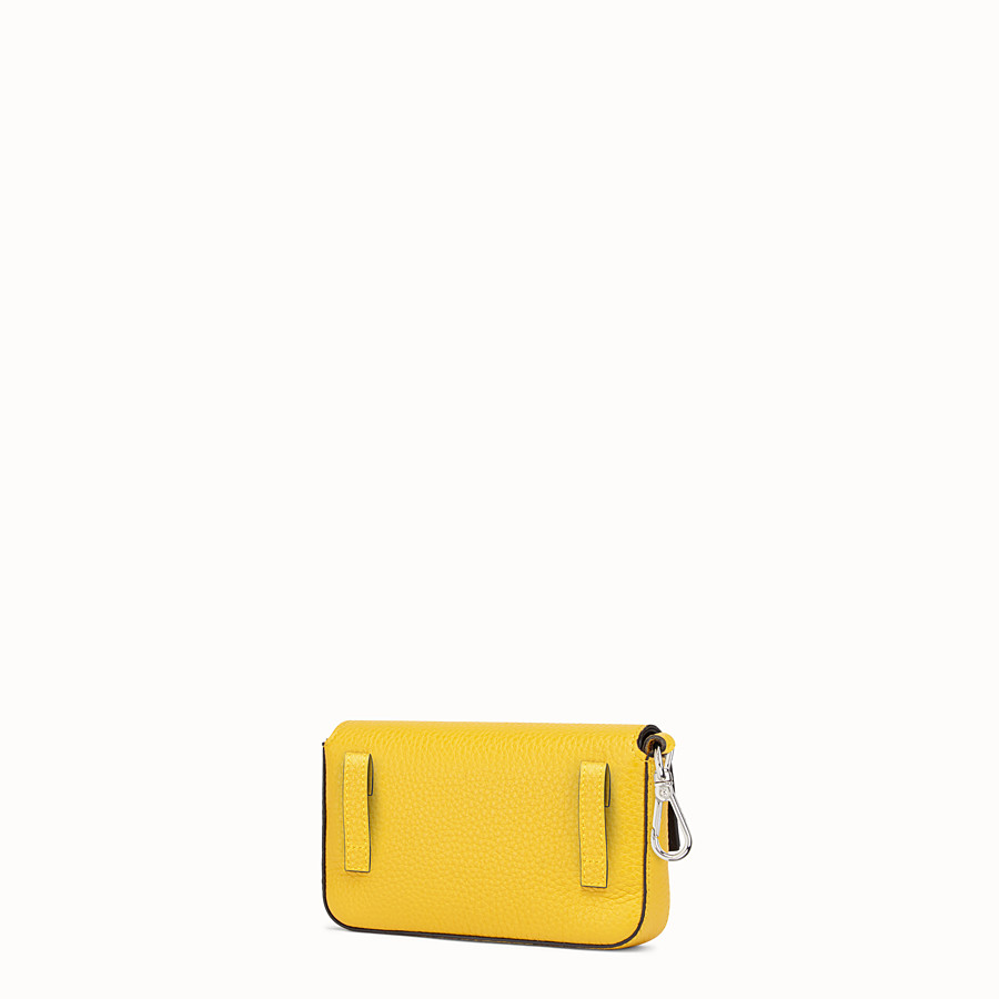 FENDI MICRO BAGUETTE - Yellow leather micro-bag - view 2 detail