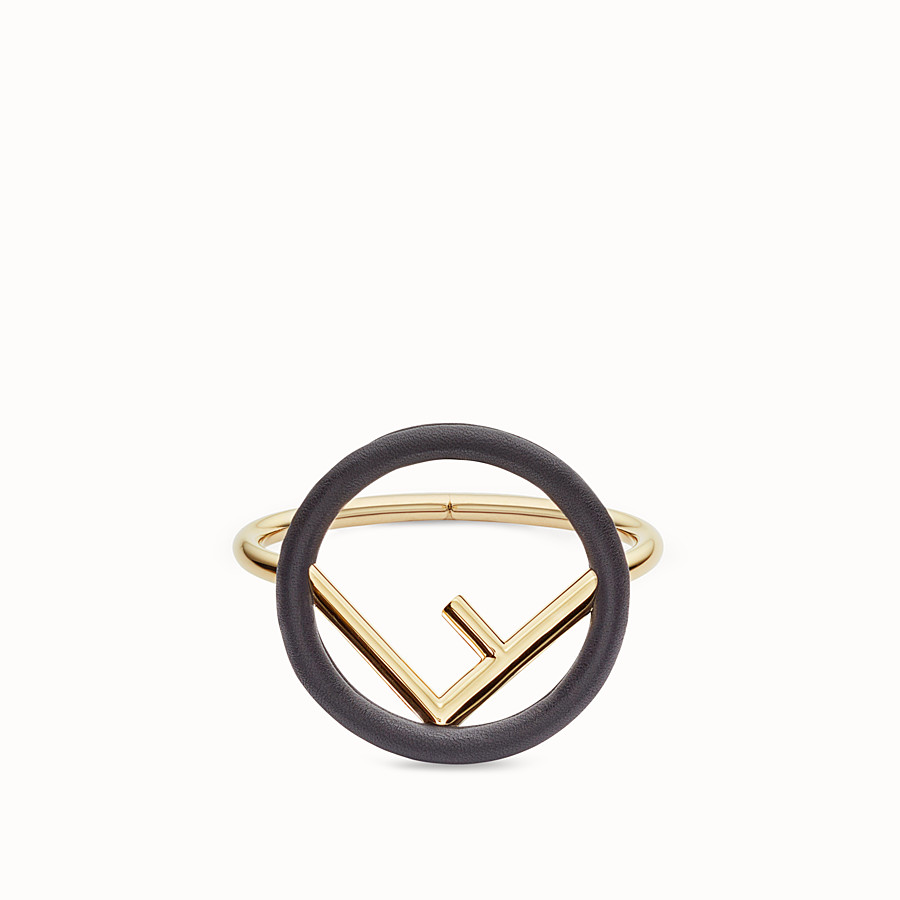 FENDI F IS FENDI BRACELET - Black and gold bracelet - view 1 detail