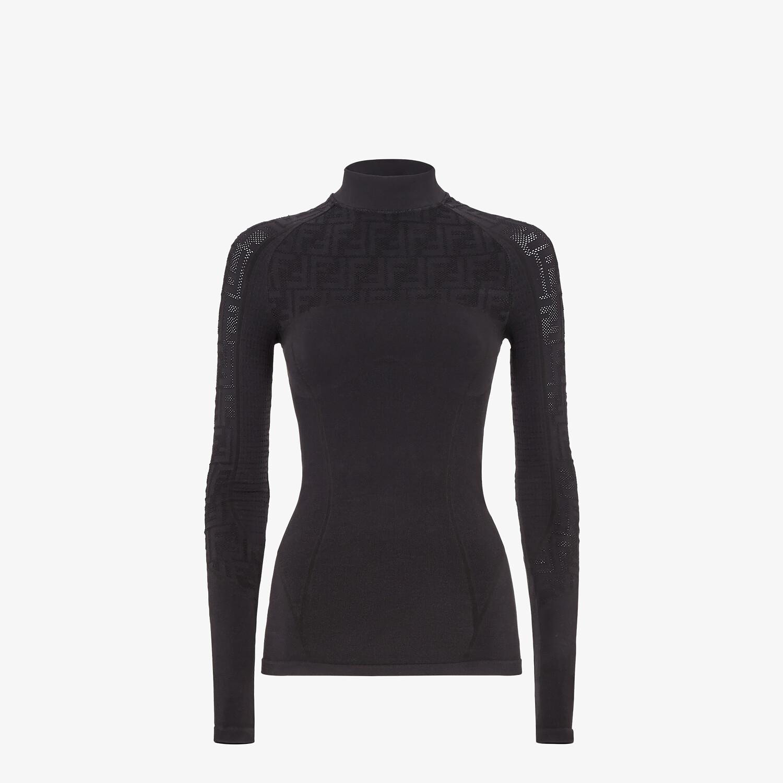 FENDI SWEATER - Seamless black sweater - view 1 detail