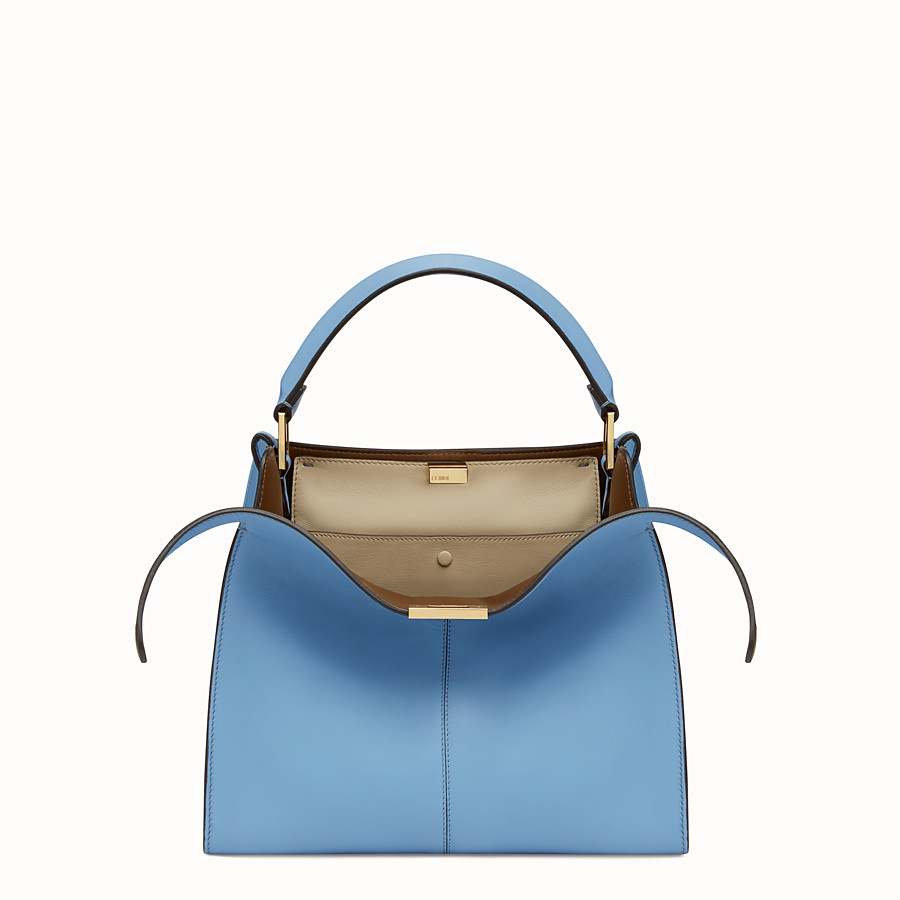 FENDI PEEKABOO X-LITE REGULAR - Sac en cuir bleu clair - view 1 detail